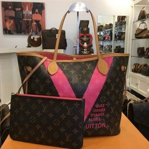 Limited edition Louis Vuitton neverfull mm